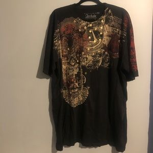 Archaic by affliction we will rise graphic shirt